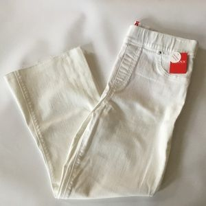 Spanx Flare Cropped Jeans Large White NWT